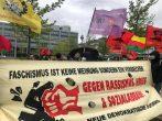 Düsseldorf'ta  işgali ve faşizme karşı ortak yürüyüş